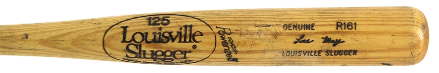 1980-82 Lee May Orioles/Royals Louisville Slugger Professional Model Game Used Bat (MEARS LOA)