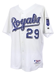 2002 Mike Sweeney Kansas City Royals Signed Game Worn Home Jersey (MEARS LOA/JSA)