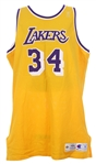 1996-97 Shaquille ONeal Los Angeles Lakers Home Jersey (MEARS LOA)