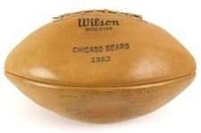 1963 NFL CHampion Chicago Bears Team Signed Wilson Football w/ 39 Signatures Including Mike Ditka, Doug Atkings, Bill George, Stan Jones & More (*JSA Full Letter*)