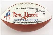 1978 (October 29) Tom Yewcic New England Patriots Signed ONFL Rozelle Game Used Presentation Football (MEARS LOA/*JSA*)