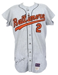 1970 Jimmie Schaffer Baltimore Orioles Signed Spring Training Game Worn Road Jersey (MEARS LOA/JSA)