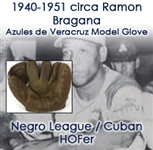 1950s Ramon Bragana Cuban/Mexican League Hall of Fame Player Endorsed Lazaro Salazar Deportes Store Model Fielders Mitt