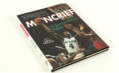 1990 Sidney Moncrief Milwaukee Bucks Signed Hardcover Book (JSA)