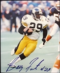 "1990s Barry Foster Pittsburgh Steelers Signed 8"" x 10"" Photo (JSA)"