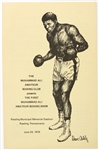 1978 Muhammad Ali Amateur Boxing Club First Muhammad Ali Amateur Boxing Show Program