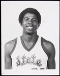 "1979 Magic Johnson Michigan State Original 4""x5"" Press Photo ""Michigan State University,East Lansing, MICH"" stamped on reverse"
