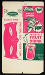 "1966 Batman Penisula Fruit Drink 8""x13"" unfolded carton (Old Store Stock)"
