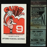 1938-72 Chicago Cubs Pocket Schedules - Lot of 2