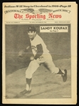 1965 (September 25) Sandy Koufax Los Angeles Dodgers 4th Career No Hitter Sporting News