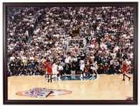 "1998 Michael Jordan Chicago Bulls NBA Finals 32"" x 43"" Framed Game Winning Shot Photo"