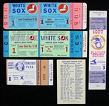 1959-77 Chicago White Sox World Series Ticket Stub Ghost Ticket Pocket Schedule Collection - Lot of 5
