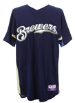 2010 Ryan Braun Milwaukee Brewers Signed Batting Practice Jersey (MEARS LOA/JSA/MLB Hologram)