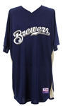 2010 Prince Fielder Milwaukee Brewers Signed Batting Practice Jersey (MEARS LOA/JSA/MLB Hologram)