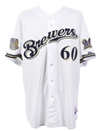 2010 Todd Coffey Milwaukee Brewers Signed Game Worn Home Jersey (MEARS LOA/JSA/MLB Hologram)