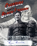 1954 Ricou Browning Creature from the Black Lagoon (depicting Browning with head piece removed) Signed LE 16x20 B&W Photo (JSA)