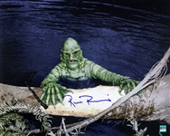 1954 Ricou Browning Creature from the Black Lagoon (depicting Creature holding on to a log) Signed LE 16x20 Color Photo (JSA)