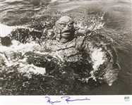 1954 Ricou Browning Creature from the Black Lagoon (depicting Creature splashing) Signed LE 16x20 B&W Photo (JSA)