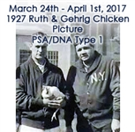 "1927 (Oct. 16th) Babe Ruth Lou Gehrig W/ Chicken New York Yankees American Milling Company Plant Original TYPE 1 Photo ""Dewell Studio""stamp on reverse (Full LOA PSA/DNA Type 1)"