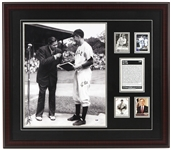 "1992 George HW Bush 41st President of the United States 28"" x 32"" Framed Babe Ruth Display w/ Signed Photo (PSA/DNA)"