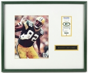 "1998 Reggie White Green Bay Packers 16"" x 20"" Framed Reggies Last Game Display w/ Ticket Stub & Signed Photo (JSA)"