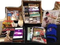 1980s to Present Large Assortment of Football & Baseball Memorabilia (190+ Pieces)