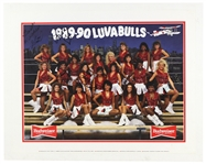 "1989-90 Chicago Bulls Luvabulls Dancers Multi Signed 20"" x 25"" Matted Budweiser Poster"
