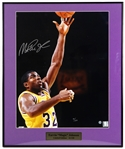 "2000s Magic Johnson Los Angeles Lakers Signed 20"" x 24"" Framed Photo (JSA) 41/150"