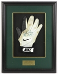 "1996 LeRoy Butler Green Bay Packers Signed 14"" x 18"" Framed Game Worn Nike Glove (MEARS LOA/JSA) Super Bowl XXXI Champions Season"
