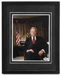 "1974-77 Gerald Ford 38th President of the United States Signed 12"" x 15"" Framed Photo (PSA/DNA)"
