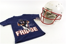 1980s-2000s Football Memorabilia Collection - Lot of 26 w/ Signed Photos, Fridge Perry Youth T-Shirt, Posters & More (JSA)