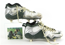 "2000 LeRoy Butler ""Final Game"" Green Bay Packers Signed Game Worn Nike Cleats (MEARS LOA/JSA)"