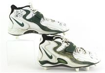1997 (January 12) Doug Evans Green Bay Packers Signed NFC CHampionship Game Worn Nike Cleats (MEARS LOA/JSA)