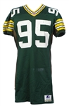 1992 Bryce Paup Green Bay Packers Signed Game Worn Home Jersey (MEARS LOA/JSA)