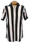 1967-73 Jim Tunney NFL Referee Signed Game Worn Shirt (MEARS LOA/JSA)