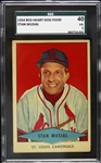 1954 Stan Musial St. Louis Cardinals Red Heart Dog Food Card (SGC 40)