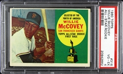 1960 Willie McCovey San Francisco Giants #316 Card (PSA 4)