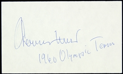 1960s Jerry West USA Olympic Team Signed Index Card (JSA)