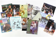 1980s-2000s Multi Sport Signed Photo & More Collection - Lot of 18 w/ Carmen Basilio, Bill Bradley, Roberto Duran, Evander Holyfield, Bobby Hull, Arnold Palmer, John Wooden & More (JSA)