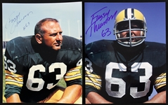 1960s Fuzzy Thurston Green Bay Packers Signed 8x10 Color Photo (lot of 2) (JSA)