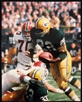 1960s Elijah Pitts Green Bay Packers Signed 8x10 Color Photo (JSA)