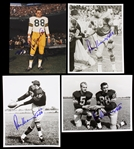 1960s Ron Kramer Green Bay Packers Signed 8x10 Color Photo (JSA) (Lot of 4)