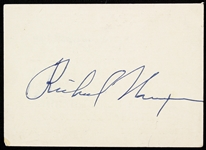1970s Richard Nixon 37th President of the United States Signed Cut (PSA)