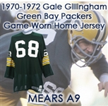 1970-1972 Gale Gillingham Green Bay Packers Game Worn Home Jersey (MEARS A9)