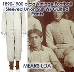 1890-1900 circa Football Lace Up Sleeved Union Suit