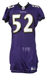 2009 Ray Lewis Baltimore Ravens Signed Home Jersey (MEARS LOA/JSA)