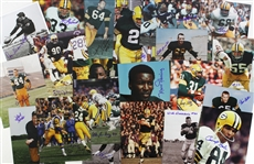 "1980s-2000s Green Bay Packers Signed 8"" x 10"" Photos - Lot of 45 w/ Jerry Kramer, Ken Bowman, Bob Jeter, Babe Parilli, Red Cochran & More (JSA)"
