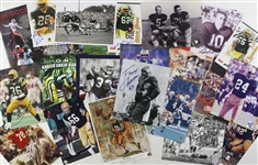 1980s-2000s Football Signed Trading Card & Photo Collection - Lot of 250+ w/ Bart Starr, Brett Favre, Bob Lilly, Joe Theismann & More