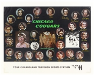 "1972-75 Chicago Cougars WHA 17"" x 22"" Facsimile Signed Team Photo Poster"