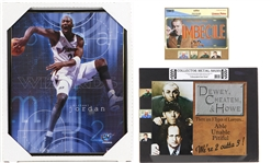 2000s Michael Jordan Washington Wizards Three Stooges Green Bay Packers Framed/Shrinkwrapped Display Collection - Lot of 3
